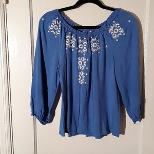 Boho blouse, blue